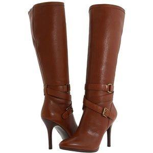 Ralph Lauren Laveda Vachetta Boots in Lauren Tan