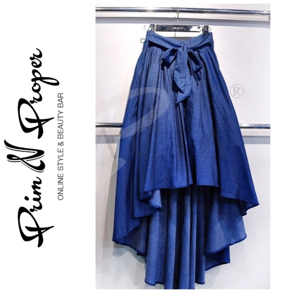 6448c682ab Hi-Lo Denim skirt