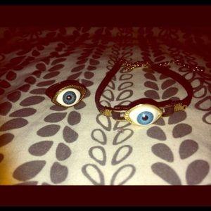 Evil Eye Ring & Bracelet Set