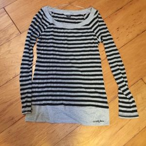 Guess striped tunic top