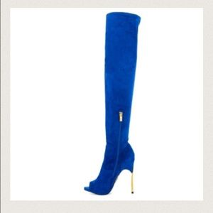 Lust for Life USA - Electric blue thigh high boots from Mahogany's ...
