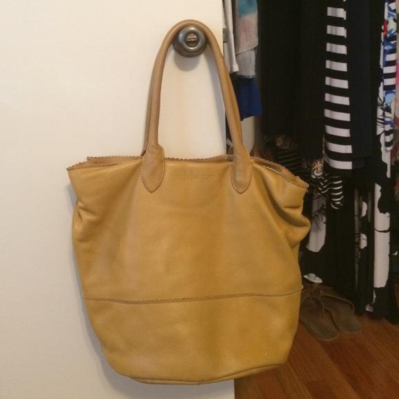 83% off Margot Handbags - Mustard Margot Genuine Leather Hobo ...