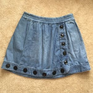 SOLD IN BUNDLE Anthropologie denim skirt sz 27