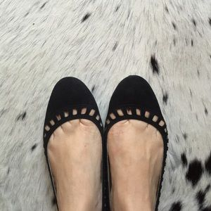 Black Suede Flats by J.Crew