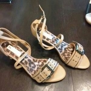 two lips Shoes - Two lips beige faux leather strappy sandal