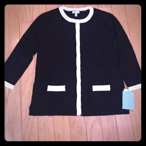 Susina Sweaters - Black and white sweater