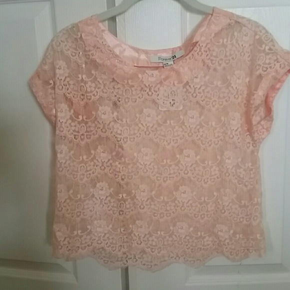 Forever 21 Tops - Pink peach lace forever 21 top