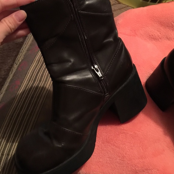 mudd brown boots from s closet on poshmark