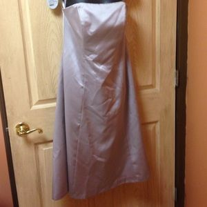 Taupe strapless satin dress size 12