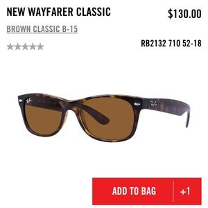 Ray-Ban Accessories - Tortoise New Wayfarer Classic Ray Ban