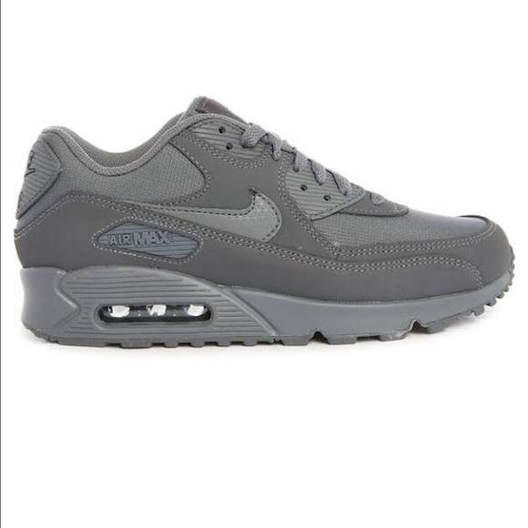 Nike Air Max 90 Essential Mono Grey Suede Sneakers