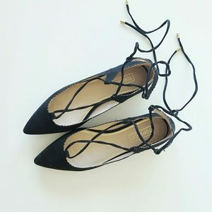 Topshop Shoes - Topshop Shillie lace up pointed flats fall shoes
