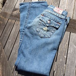 True Religion Joey Distressed Flare 04503 Jeans 24