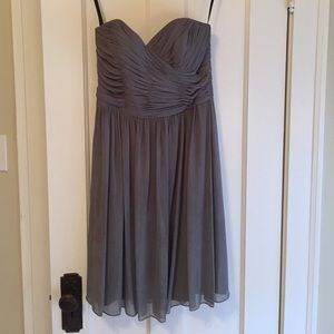 After Six Charcoal Gray Dress