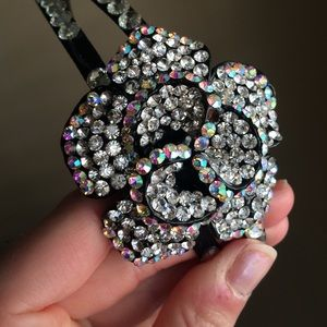 Accessories - Crystal rose embellished headband