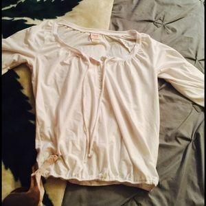 White half sleeve blouse.