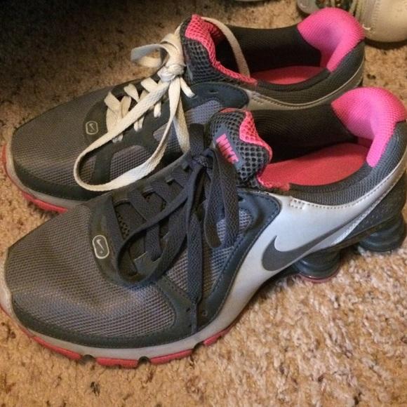 Nike Shoes - Pink   gray Nike Shocks ed9242e97fce
