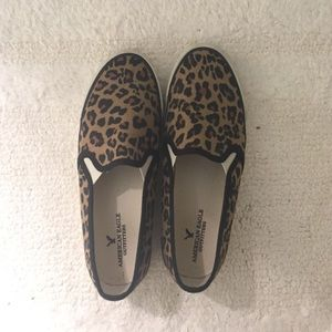 8a1407e6e2f American Eagle Outfitters Shoes - AEO Leopard Slip-On Sneakers