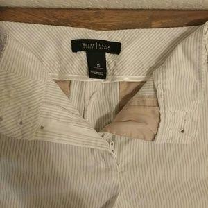 f26f12e729 White House Black Market Shorts - WHBM White and Light Grey Striped Shorts