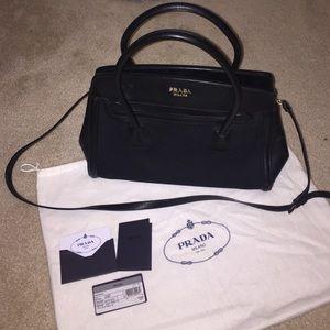prada small handbag black without tag