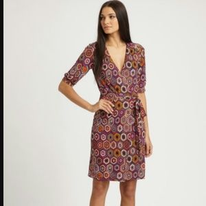 Trina Turk Honeycomb Print Wrap Dress