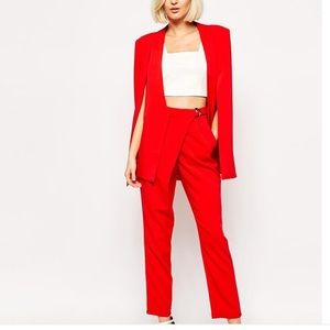 Lavish Alice Jackets & Blazers - Red Cape Style Blazer by Lavish Alice