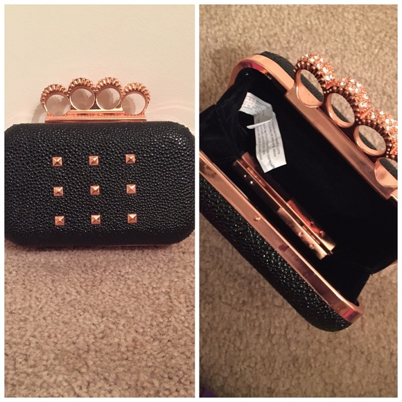 50% off Handbags - Black and rose gold clutch from Jz's closet on ...