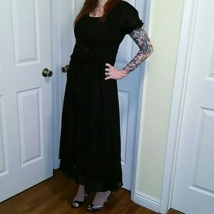 Dresses & Skirts - Maxi Black Chiffon Dress $10 FINAL SALE