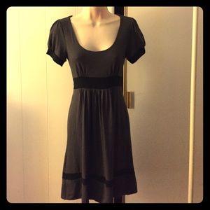 Grey dress with black trim sz S