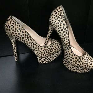 Spotted Platform Pumps | Shoemint