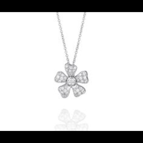 e7405b81a0a96 Debeers Wildflower Pave Pendant Authentic