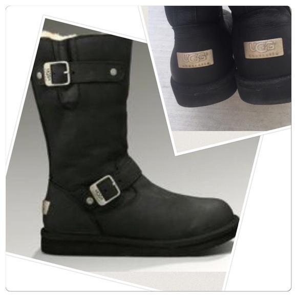 Ugg Australia Kensington black leather tall boot 9