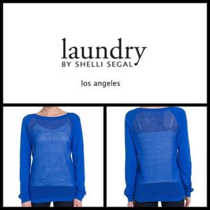 Laundry by Shelli Segal Tops - Landry by Shelli Segal Mesh Sweater