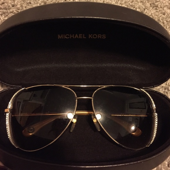 fa78d0a601e Michael Kors rhinestone aviator sunglasses. M 560b70e92de51298b9022344