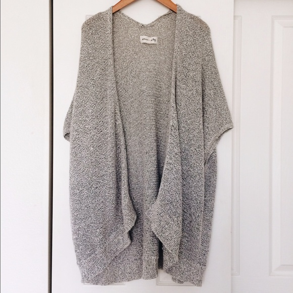 Aritzia Aritzia oversized Sweaters Gray cardigan qqxrOFZHw