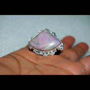 handmade & handcrafted gemstone jewelry Jewelry - ✂️REDUCED✂️Pink Jasper Statement Ring Size 9 1/2