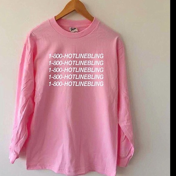 9d7a4b52e429 American Apparel Tops | 1800 Hotline Bling Shirt Pink | Poshmark