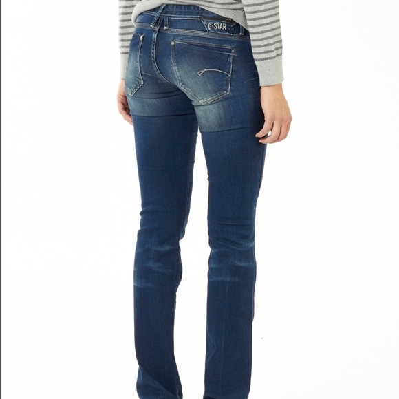 star jeans g star midge straight denim. Black Bedroom Furniture Sets. Home Design Ideas