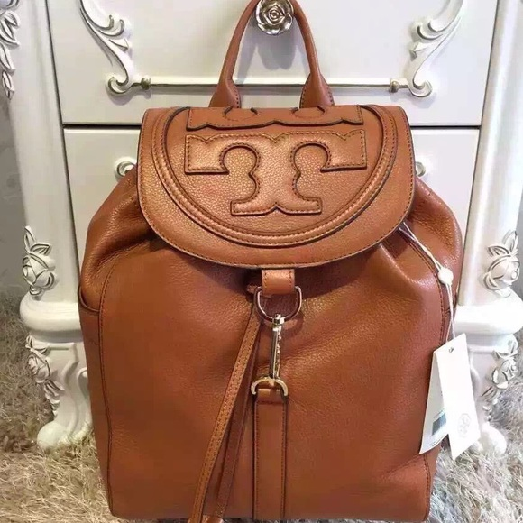 88dfa16864f TORY burch all T backpack in bark brown