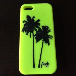 Victoria Secret's Pink IPhone 5S neon case.