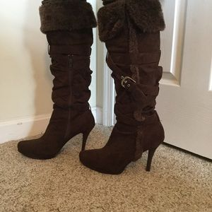 Rue 21 Shoes - 🍂🍁Cocoa Brown Faux Suede Strappy Buckle Boots🍁