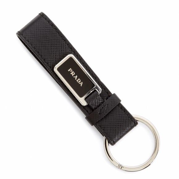 Prada Saffiano Leather Keychain QlMVB