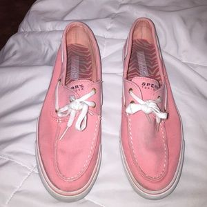 Sperrys Top sider pink shoes