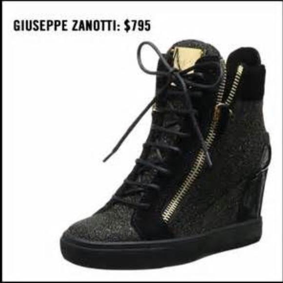 77b8efba17f Giuseppe Zanotti Shoes - Giuseppe Wedge Sneakers! Free BEBE leggings w  buy