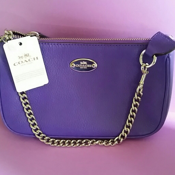 8366f5a41853 BEAUTIFUL COACH PURPLE IRIS COLORED MINI BAG NWT