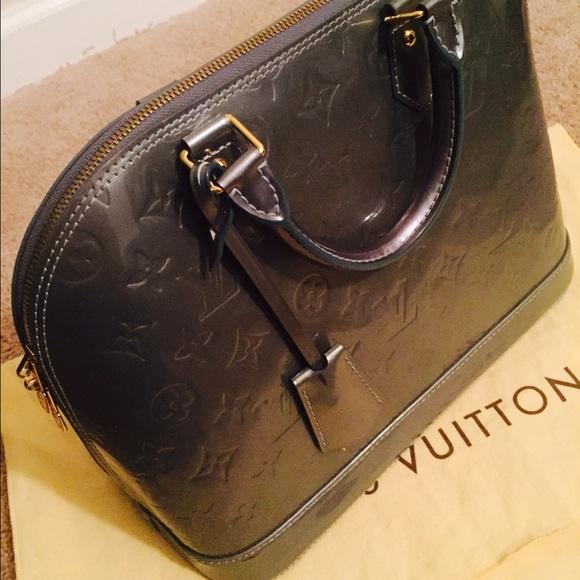 ccddc9cfee6 Louis Vuitton Bags   Vernis Alma Pm Blue Patent Handbag   Poshmark