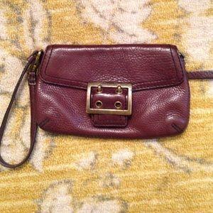 BR Leather wristlet