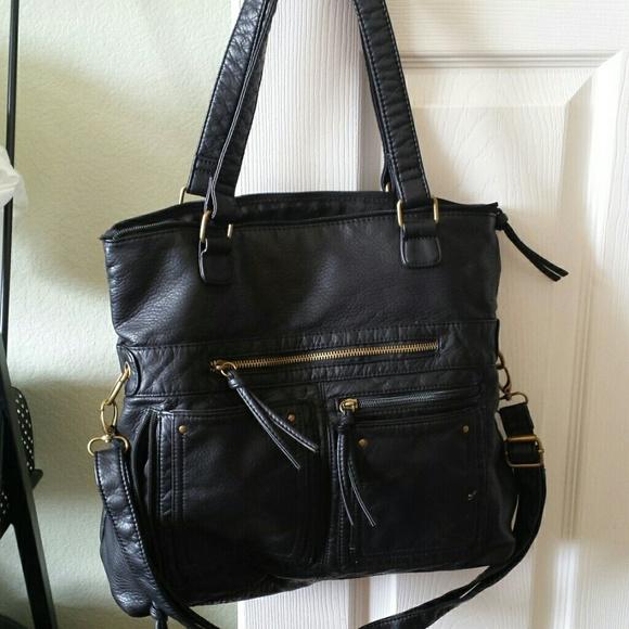 0deb7804f0 Bueno Handbags - Brand new large black vegan tote bag purse