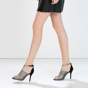 Zara Shoes - Zara caged heels