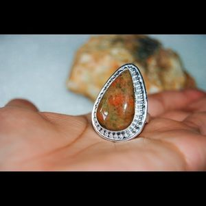 handmade & handcrafted gemstone jewelry Jewelry - ✂️REDUCED✂️Unakite Statement Ring Size 8